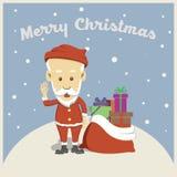 从圣诞老人的圣诞快乐 库存照片