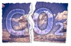 从在大气的二氧化碳存在-与ri的概念图象释放 免版税库存照片