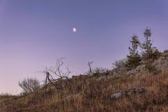从在山的一个峰顶 免版税库存照片