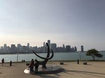 从在远处的芝加哥 图库摄影