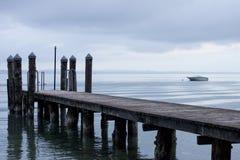 从在Garda湖的海滩 免版税库存照片