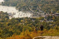 从在Mt上面的坎登缅因 Battie 免版税图库摄影