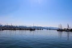 从地中海的蓝色心情 库存图片