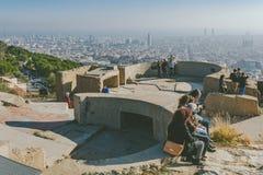 从地堡del Carmel全景,巴塞罗那的Viw 图库摄影
