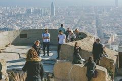 从地堡del Carmel全景,巴塞罗那的Viw 免版税库存图片