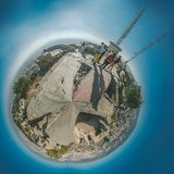 从地堡del Carmel全景,巴塞罗那的Viw 库存图片
