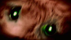从地狱眼睛特写镜头的玩具 股票录像