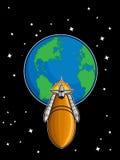 从地球的航天飞机飞行 库存图片