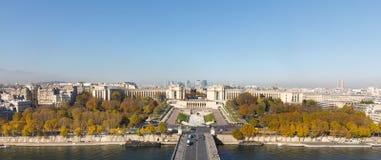 从埃佛尔铁塔的鸟瞰图在巴黎 免版税库存照片