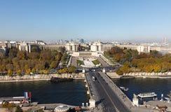 从埃佛尔铁塔的鸟瞰图在巴黎 免版税库存图片