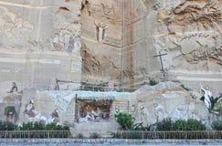 从埃及之土著基督教派的浅浮雕在开罗 免版税图库摄影