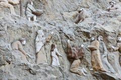 从埃及之土著基督教派的浅浮雕 免版税图库摄影
