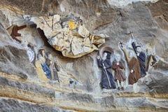 从埃及之土著基督教派的浅浮雕 库存图片