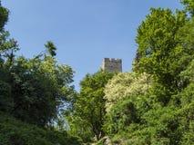 从城堡的老塔在克罗地亚 免版税库存照片