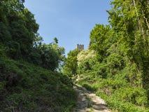 从城堡的老塔在克罗地亚 库存照片