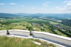 从城堡Fuzer的看法在匈牙利 库存图片