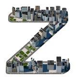 从城市字体汇集的都市Z信件 库存图片