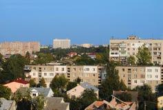 从城市的屋顶的视图 库存照片