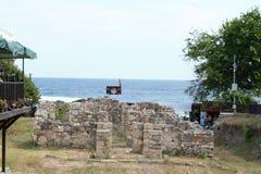 从堡垒环境美化在索佐波尔市在保加利亚 库存照片