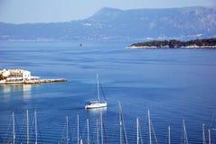 从堡垒的视图在Kerkyra,科孚岛,希腊 库存图片