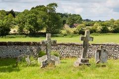 从墓地的看法 免版税库存图片