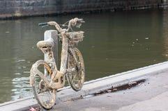 从墨尔本`检索的损坏的oBike s雅拉河 库存照片