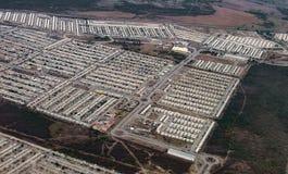从墨西哥的鸟瞰图 免版税库存照片
