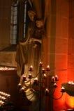 从处女玛丽亚的雕象 库存照片