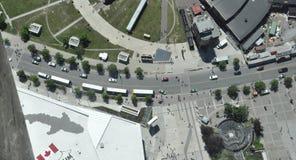 从多伦多加拿大国家电视塔邻里的鸟瞰图安大略省的加拿大 免版税库存图片