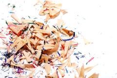 从多彩多姿的铅笔的削片 免版税库存图片