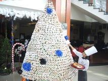 从多福饼的圣诞树 免版税图库摄影