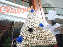 从多福饼的圣诞树 库存图片