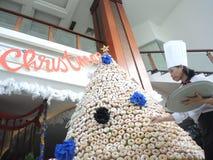 从多福饼的圣诞树 图库摄影