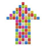 从多维数据集的五颜六色的箭头 免版税库存图片