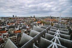 从大教堂的阿姆斯特丹全景 免版税库存照片