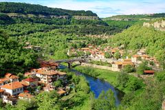 从大特尔诺沃,保加利亚的美丽的景色 免版税库存照片