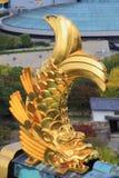 从大阪城堡,大阪,日本的视图 库存照片