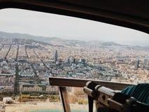 从天空的巴塞罗那 免版税库存照片