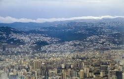 从天空的黎巴嫩 库存照片