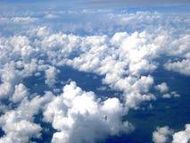 从天空看见的云彩的一汇集 免版税库存照片
