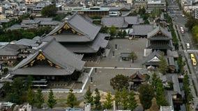 从天空视图塔采取的街市东京天空视图 东京大都会扩展对与摩天大楼的天际和 免版税库存照片