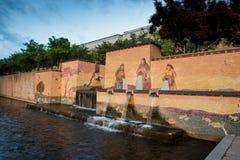 从奥克拉荷马市的喷泉 库存照片