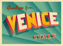 从威尼斯的葡萄酒旅游贺卡 免版税图库摄影