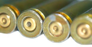 从子弹的绿色壳 库存图片