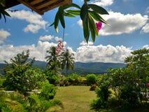 从家庭逗留的这个看法在南,泰国 图库摄影