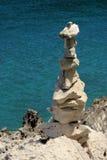 从小卵石的塔 免版税库存照片