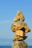 从小卵石的塔 库存照片