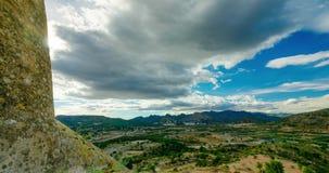 从小山的看法在城堡萨贡托附近 影视素材