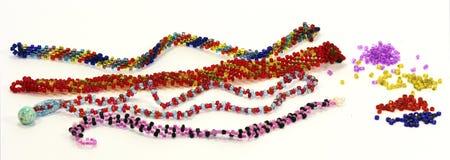 从小珠的刺绣用品 免版税库存图片