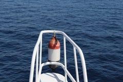 从小船的波浪 库存照片